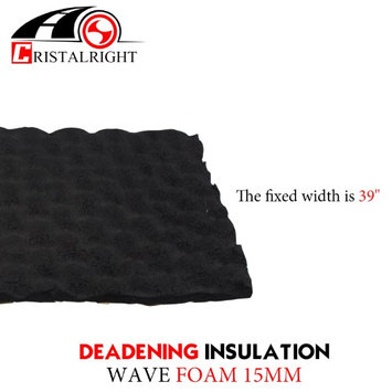 Car Elements 15mm Thickness Heat Proof Mat Black Adhesive For Noise Shield Proofing Proof Barrier Aluminum Foam Trunk Floor Mat Firewall Doors (58'x40)