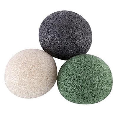 Konjac Facial Puff Sponge-Natural Original Pure Cleansing Sponge Bath Body Soft Puff Face Washing for All Skin Type