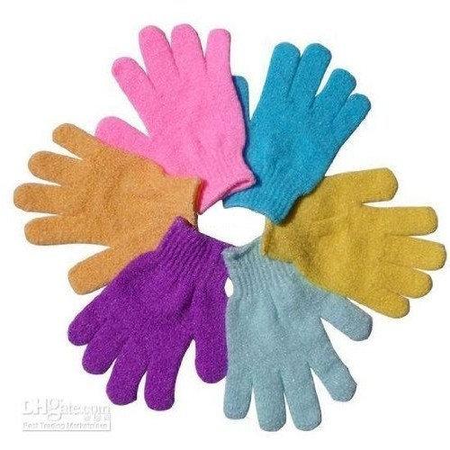ALINCAS Exfoliating Bath Gloves (4 pairs)