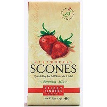Sticky Fingers Strawberry Scone Mix 16oz