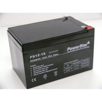 PowerStar PS12-15-40 12V 15Ah F2 Scooter Bike Battery Replaces 14Ah Enduring Cbe14-12, Cbe 14-1