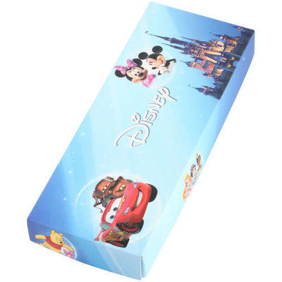 Disney Palace Pet Pumpkin Girls' Pink Plastic Time Teacher Watch, Blue Stripe Nylon Strap