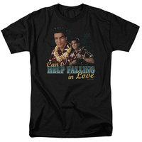 Elvis/Can'T Help Falling S/S Adult 18/1 Black Elv699 [clothing_size_type: clothing_size_type-regular]