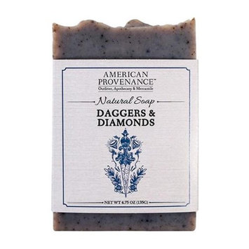 American Provenance 232447 4.75 oz Daggers & Diamonds Bar Soap