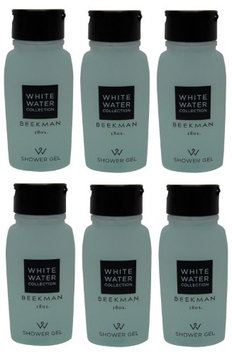 Beekman 1802 White Water Shower Gel Lot of 0.75oz Bottles Total of 4.5oz (Pack of 6)
