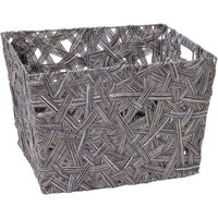 Simplify Grey Crazy Weave Tote
