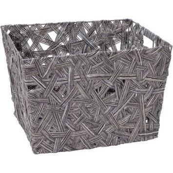 Simplify Grey Crazy Weave Tote