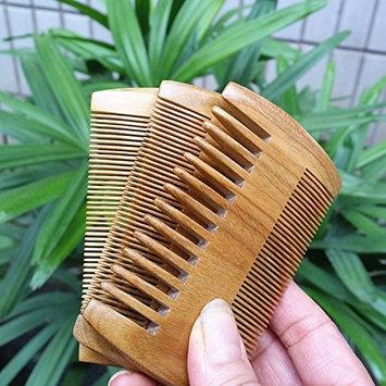 MARIAHANAN Brand Green Sandalwood Beard Comb Pocket Handmade Hair Combs Pure Natural Wood Comb Hair Brush ProfessionalHairbrush 9-3