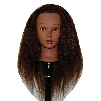 HairZtar Ethnic Afro Coarse 100% Real Hair Mannequin Head Hairdresser Training Head Manikin Cosmetology Doll Head