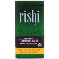 Rishi Tea, Organic Loose Leaf Herbal Tea, Turmeric Chai, 3.00 oz (85 g) [Flavor : Turmeric Chai]