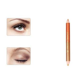 Binmer(TM) Double-headed Pearling Eyeshadow Pencil Lie Silkworm Pen Durable Waterproof