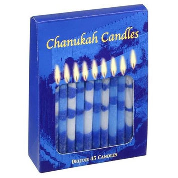 Holy Land Gifts 8265 Candle Chanukah Candles Blue White 4 In.