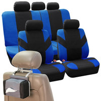 Car Seat Covers High Quality Sets in Blue For Car SUV Free Gift Tissue Dispenser
