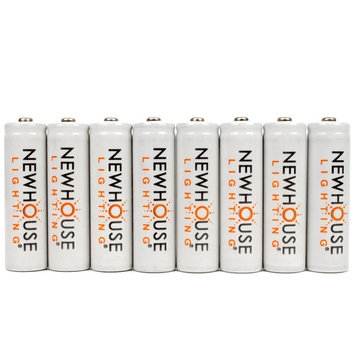 house Lighting Rechargeable 1500mah NiMH AA Batteries Optimized for Solar Lights, 8 Count
