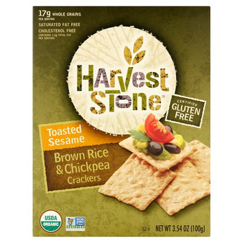 Harvest Stone Toasted Sesame Brown Rice & Chickpea Crackers, 3.54 oz, 6 pack