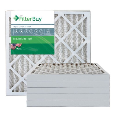AFB Platinum MERV 13 24x24x2 Pleated AC Furnace Air Filter. Filters. 100% produced in the USA. (Pack of 6)