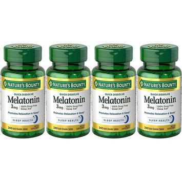 Nature's Bounty Melatonin 3 Mg Quick Dissolve Tablets, 240 Count