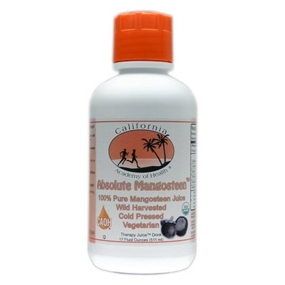 Absolute Mangosteen - Pure Organic Mangosteen Juice from CAOH® (12 - 17 oz Bottles)