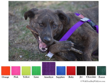 Walk Your Dog With Love No-Choke No-Pull Front-Leading Dog Harnesses, Sport Edition, Sizes From 5 to 250 lbs, Amethyst Purple