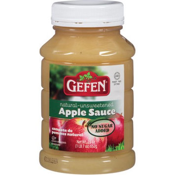 Gefen Natural Unsweetened Apple Sauce, 23 oz, (Pack of, 12)