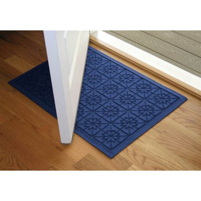 Bungalow Flooring 24 in. L x 36 in. W Navy Waterguard Star QuiLight Mat