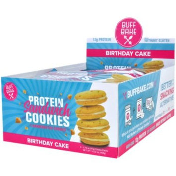 Buff Bake Sandwich Cookie - BIRTHDAY CAKE (8 Cookie(S)) by Buff Bake at the Vitamin Shoppe