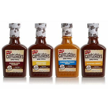 Cattlemen's BBQ Sauce Variety 4-Pack, No High-Fructose Corn Syrup, Real Ingredients, 18oz