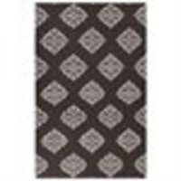 8' x 11' Stylish Serenity Chocolate Brown and Cream White Reversible Hand Woven Wool Area Throw Rug