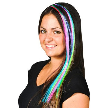 Colored Hair Extensions Clips (1 dz)