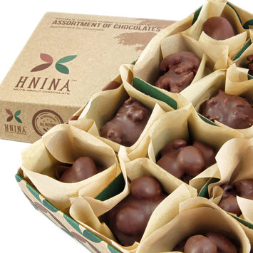 Hnina Gourmet Raw Dark Chocolate Truffles with Sprouted Nuts & Seeds - Box of 12Lightly Roasted