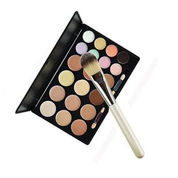 Globeagle 20 Colors Makeup Camouflage Eyeshadow Concealer Palette Brush Powder 3#