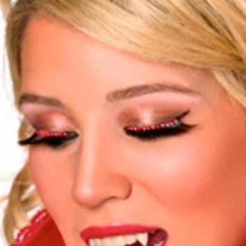 Black Dramatic Eyelashes with Red Crystals
