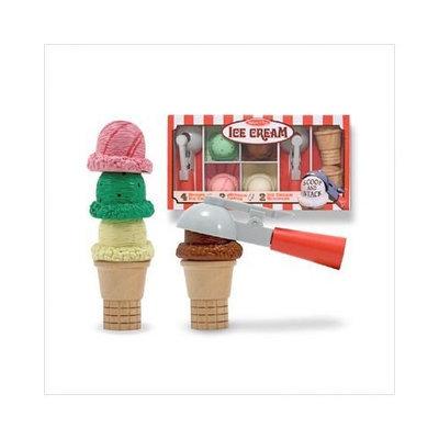 Lights Camera Interaction Deluxe Wooden Ice Cream Cones with Ice Cream Scoopers