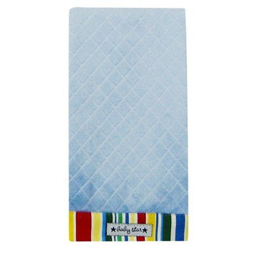 Baby Star Diamond Diaper Burp - Blue Stripe (Discontinued by Manufacturer)