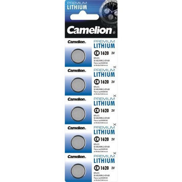 Camelion 5 X Cr1620 Lithium 3v Coin Cell Batteries Dl1620 Kcr1620