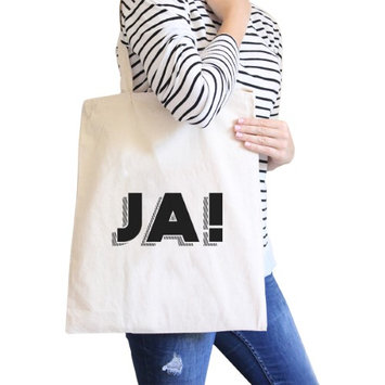 365 Printing Inc Ja! Natural Canvas Bag Canvas Tote Bags Gifts Ideas For Friends