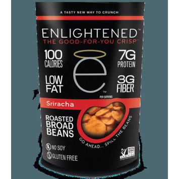 Enlightened Roasted Broad Bean Crisps - Sriracha