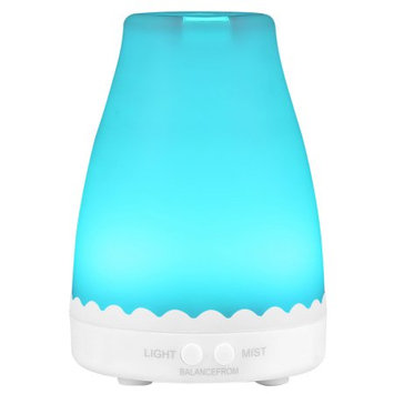 BalanceFrom Essential Oil Diffuser, 120ml Aroma Essential Oil Cool Mist Humidifier with Adjustable Mist Mode, Waterless Auto Shut-off and 7 Changeable Color LED Lights