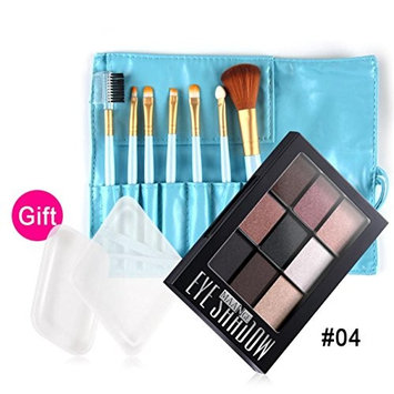Cosmetic Matte Eyeshadow Cream Makeup Palette Shimmer Set 9 Color+Brush Set