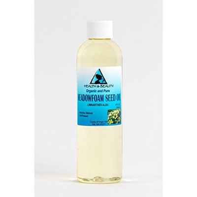 Meadowfoam Seed Oil Organic Expeller Pressed by H&B OILS CENTER Natural Fresh 100% Pure 4 oz