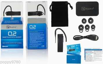 BlueAnt Black Q2 Voice Controlled Bluetooth Headset with Text Reader