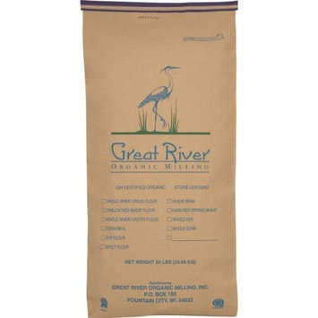 Great River Organic Milling, Specialty Flour, Rye Flour, Stone Ground, Organic, 50-Pounds (Pack of 1)