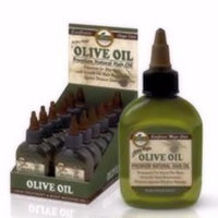Difeel Olive Oil Premium Natural Hair Oil 2.5 oz. (Pack of 6)