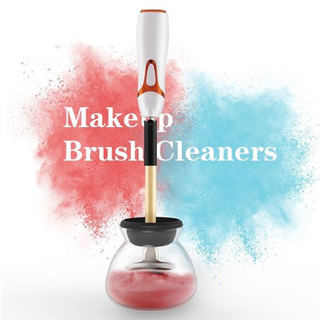 Makeup Brush Cleaner -PLYRFOCE Electric Brush Cleanser Kit Professional Makeup Brush Cleaner and Dryer Machine, Multi-function Make-up Brushes Cleaner with 8 Rubber Collars for All Makeup Brushes