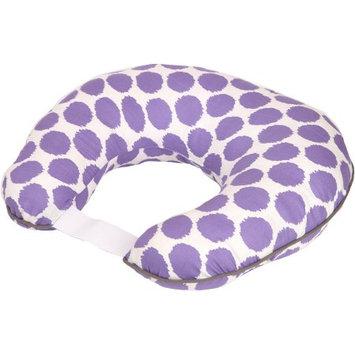Bacati Ikat Zigzag Muslin Nursing Pillow with Insert, Lilac Dots
