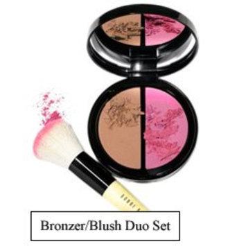 Bobbi Brown Bronzer/blush Duo Set:light Bronzing Powder/pale Pink Blush, with Face Brush, 0.15oz/4.5g