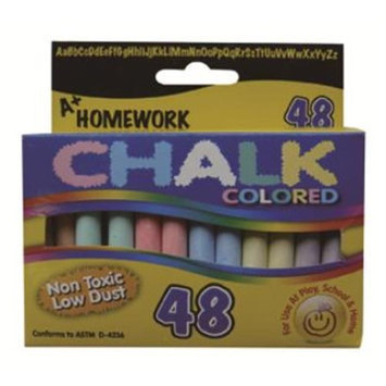 A+homework Chalk - Assorted Colors - 3