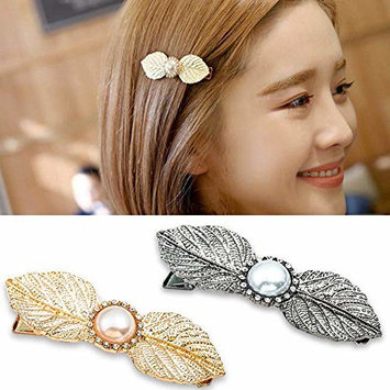 Leaf Hair Clip Alloy Hairpins Barrettes for Women Girls Hair Styling (3Pcs)