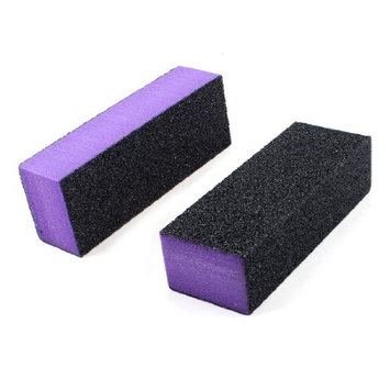 Black Purple 4 Way Nail File Art Shiner Polish Buffer Buffing Block 2x