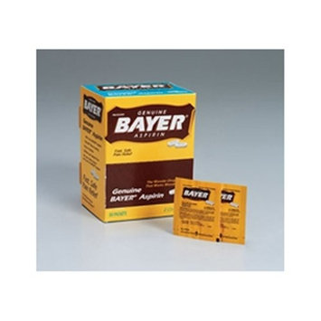 Bayer aspirin- 50 2-packs- 100 tablets per dispenser box
